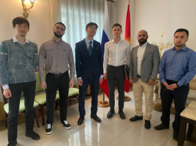 Students visit the Russian Embassy in Bishkek